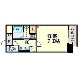 サムティ東難波ECLAT[7階]の間取り