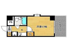 分譲デトムワン京都外大南[406号室]の間取り