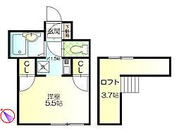 コスモスビルII[3階]の間取り