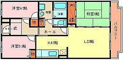 ドミール浜寺[407号室]の間取り