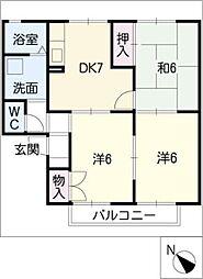 タウンKOSE[1階]の間取り