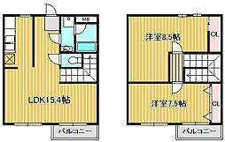 神奈川県川崎市中原区宮内1丁目の賃貸マンションの間取り
