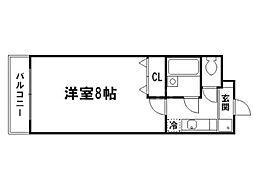 アミ宝ヶ池[2階]の間取り