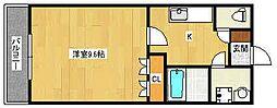 ハーモニーハイツM[2階]の間取り