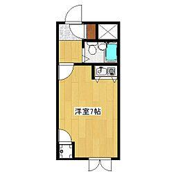 トライヤード[2階]の間取り