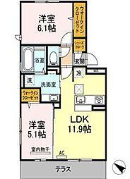 (仮)D-room吉塚5丁目[1階]の間取り