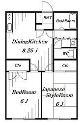 BSハイツ[1階]の間取り