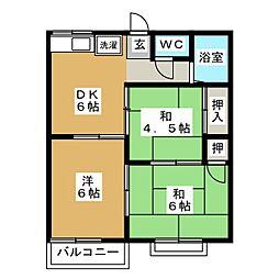 コーポ鈴木[2階]の間取り