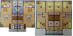 札幌市営南北線 自衛隊前駅 徒歩12分の賃貸テラスハウス 1階3LDKの間取り
