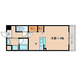 奈良県奈良市西大寺南町の賃貸マンションの間取り