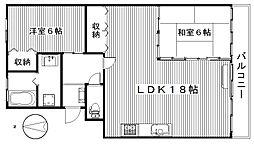 レジデンスYS[1階]の間取り