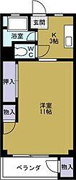 田中町住宅[4階]の間取り