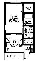 桜ヶ丘1丁目 賃貸[002号室]の間取り