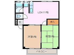 ビラカワサキ[2階]の間取り