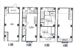 新長田幸楽園ビル[2・3・4階号室]の間取り