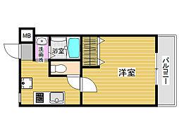 福岡県福岡市城南区梅林2丁目の賃貸マンションの間取り
