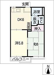 プレンティ大松 A[1階]の間取り
