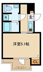 東京メトロ丸ノ内線 中野坂上駅 徒歩5分の賃貸マンション 3階1Kの間取り