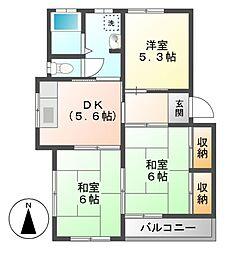 大沢ハイツA[2階]の間取り