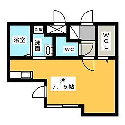 グランディール覚王山[1階]の間取り