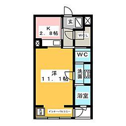 静岡県磐田市安久路1の賃貸マンションの間取り