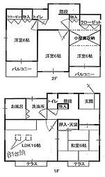 [一戸建] 神奈川県茅ヶ崎市西久保 の賃貸【/】の間取り