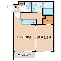 北海道札幌市東区北十二条東10丁目の賃貸マンションの間取り