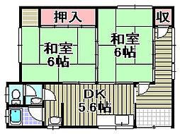 [テラスハウス] 大阪府阪南市下出 の賃貸【/】の間取り
