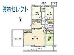 新松戸ガーデニア[813号室]の間取り