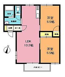 コーポヤマトC棟[1階]の間取り