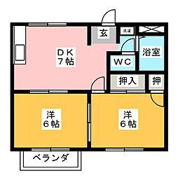 シティハイツ源II[2階]の間取り