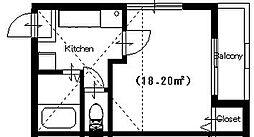ファイブスターハイツ[2階]の間取り