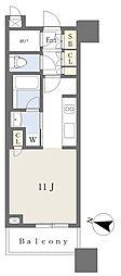 Brillia Towers 目黒ノースレジデンス 3階ワンルームの間取り