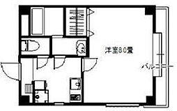 JR中央線 中野駅 徒歩10分の賃貸マンション 2階1Kの間取り