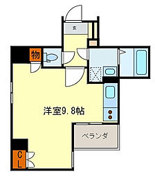 BRAVI新町[8階]の間取り