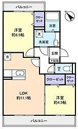 ロイヤルコートC[3階]の間取り
