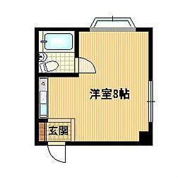 Osaka Metro谷町線 都島駅 徒歩5分の賃貸マンション 5階ワンルームの間取り