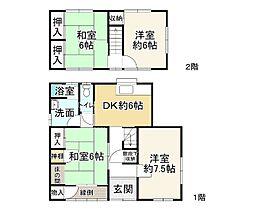 JR山陽本線 相生駅 バス11分 緑ヶ丘北下車 徒歩4分 4DKの間取り
