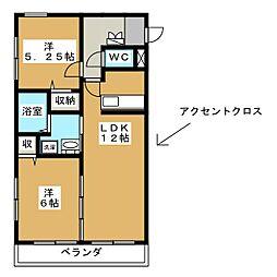 優駿スクエア[2階]の間取り