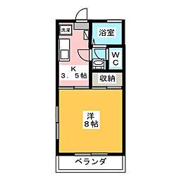 レジデンスコスモ[1階]の間取り