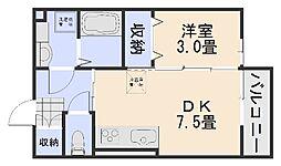 グランモアSHIGENO[1階]の間取り