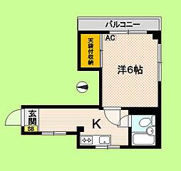 東京都中野区本町4丁目の賃貸マンションの間取り