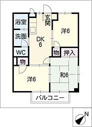 カントリーハウス赤石[2階]の間取り
