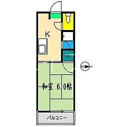エスティハウス[2階]の間取り