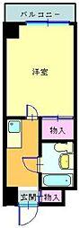 神奈川県横浜市鶴見区矢向3丁目の賃貸マンションの間取り
