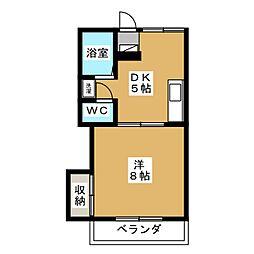 オーレ東仙台[1階]の間取り