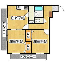 プラザ神泉苑[1階]の間取り