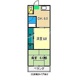 コーポふゆみ[2階]の間取り