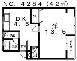 サニープレスI[3階]の間取り