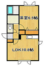 ライズヒル[2階]の間取り